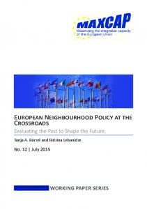 European Neighbourhood Policy at the Crossroads - MAXCAP project