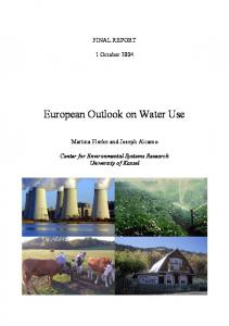 European Outlook on Water Use