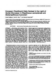 European pliopithecid diets revised in the light ... - Wiley Online Library