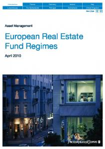 European Real Estate Fund Regimes - PwC