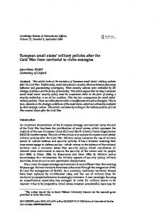 The Encyclopedia Of The Cold War A Political Social And