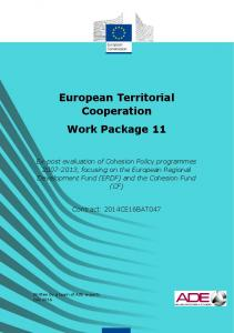 European Territorial Cooperation - European Commission - Europa EU