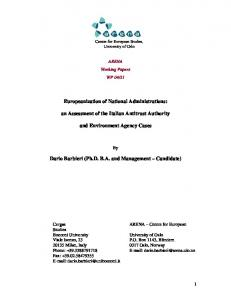 Europeanization of National Administrations - UiO