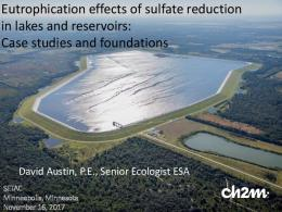 Eutrophication effects of sulfate reduction in lakes and ...