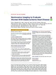 Evaluate Women With Stable Ischemic Heart Disease