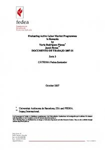 Evaluating Active Labor Market Programmes in Romania by Nuria ...