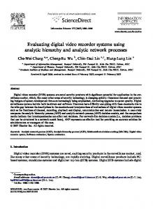 Evaluating digital video recorder systems using analytic hierarchy and ...