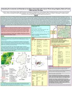 Evaluating Environmental and Disturbance ... - Forest Service