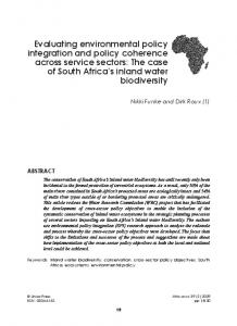 Evaluating environmental policy integration and policy coherence ...
