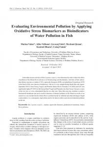 Evaluating Environmental Pollution by Applying Oxidative Stress ...