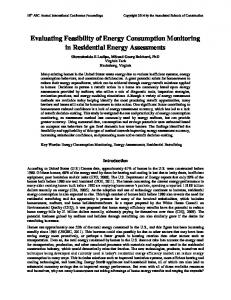 Evaluating Feasibility of Energy Consumption Monitoring in ...