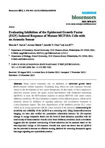 Evaluating Inhibition of the Epidermal Growth Factor (EGF) - MDPI