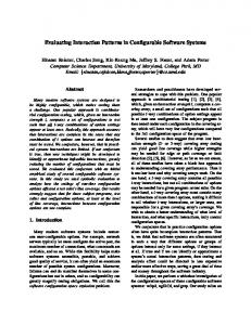Evaluating Interaction Patterns in Configurable Software Systems