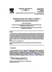 Evaluating latent class analysis models in ... - Semantic Scholar