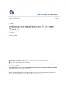 Evaluating Multicultural Literature for Use in the