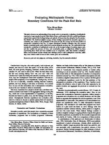 Evaluating Multiepisode Events: Boundary Conditions for ... - CiteSeerX