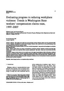 Evaluating progress in reducing workplace violence - IOS Press