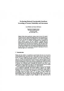 Evaluating Reduced-Functionality Interfaces According to Feature ...