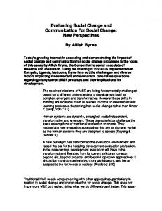 Evaluating Social Change and Communication For Social Change ...