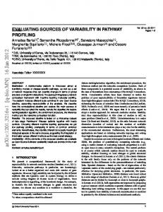Evaluating sources of variability in pathway profiling