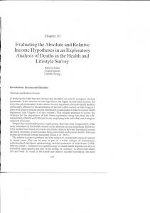 Evaluating the Absolute and Relative Income ...