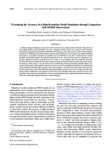 Evaluating the Accuracy of a High-Resolution Model ... - AMS Journals