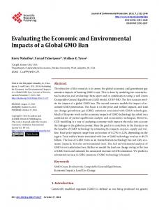 Evaluating the Economic and Environmental Impacts ...