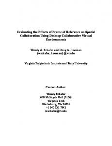 Evaluating the Effects of Frame of Reference on Spatial ... - CiteSeerX