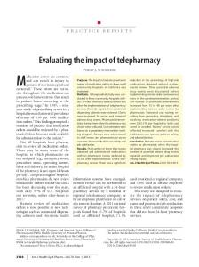 Evaluating the impact of telepharmacy