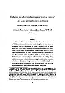 Evaluating the labour market impact of Working ... - UCL Discovery