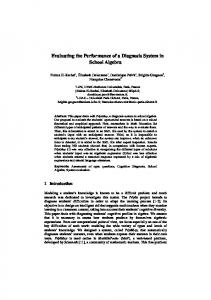 Evaluating the Performance of a Diagnosis System ... - L'UTES - UPMC