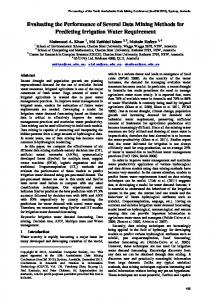 Evaluating the Performance of Several Data Mining Methods for ...