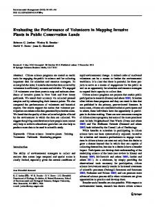 Evaluating the Performance of Volunteers in Mapping ... - Springer Link