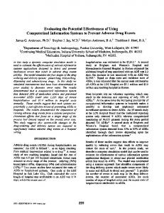 Evaluating the potential effectiveness of using computerized ...