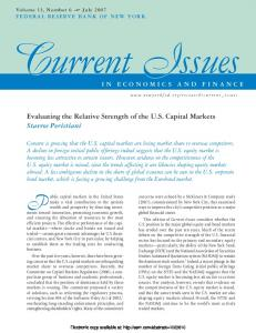 Evaluating the Relative Strength of the US Capital ... - SSRN papers
