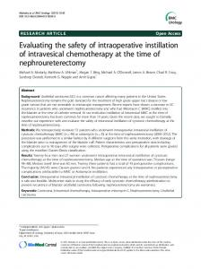 Evaluating the safety of intraoperative instillation of