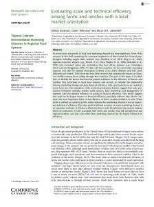 Evaluating the scale and technical efficiency among farms and