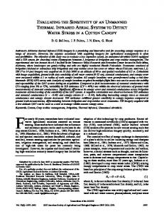evaluating the sensitivity of an unmanned thermal infrared aerial ...