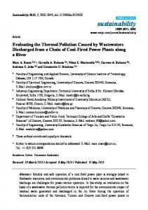 Evaluating the Thermal Pollution Caused by ... - Semantic Scholar