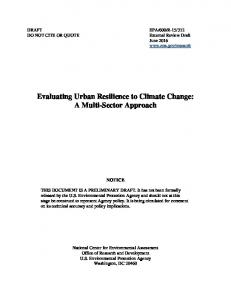 Evaluating Urban Resilience to Climate Change: A