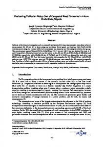 Evaluating Vehicular Delay Cost of Congested Road Networks in ...