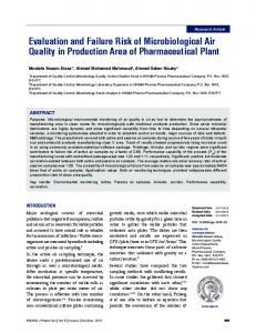 Evaluation and Failure Risk of Microbiological Air Quality in ...