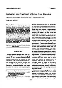 Evaluation and Treatment of Pelvic Floor Disorders