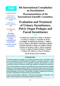 Evaluation and Treatment of Urinary Incontinence, Pelvic Organ ...