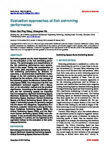 Evaluation approaches of fish swimming performance - Scientific ...