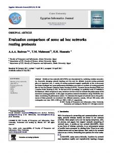 Evaluation comparison of some ad hoc networks routing protocols - Core