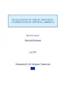 Evaluation for the European Commission