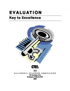Evaluation: Key To Excellence