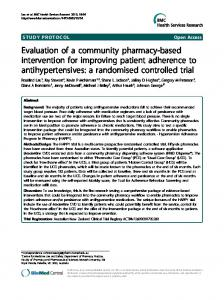 Evaluation of a community pharmacy-based intervention for improving ...