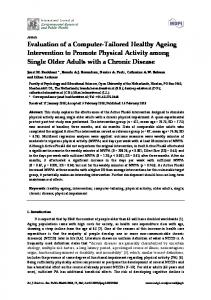 Evaluation of a Computer-Tailored Healthy Ageing Intervention to